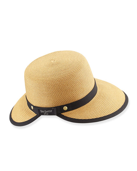 Squishee Sun Cap, Natural/Black
