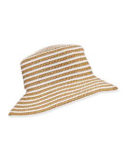 Braid Dame Hat, Natural/White
