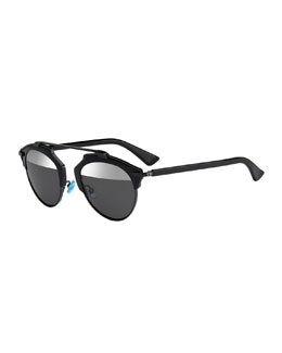 So Real Brow Bar Sunglasses, Black