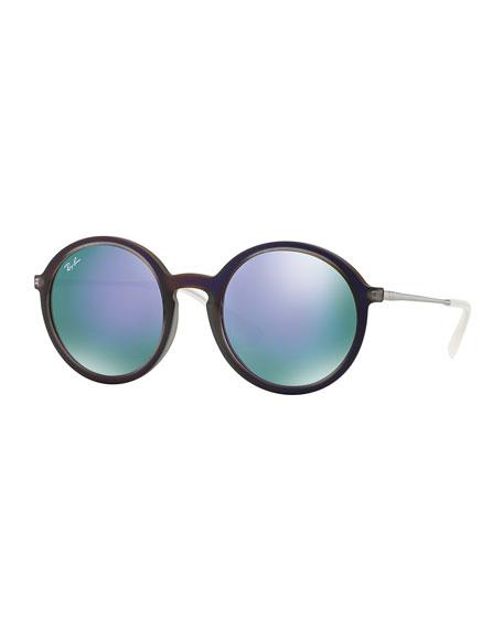 Round Iridescent Sunglasses