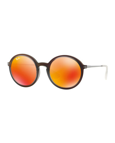 Round Iridescent Sunglasses