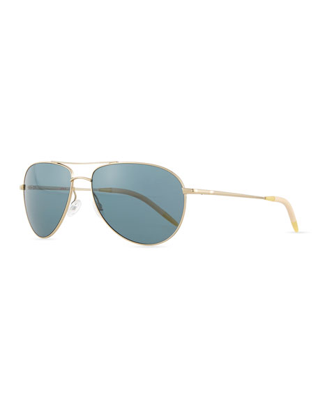 a16be6c442 Oliver Peoples Benedict Polarized Aviator Sunglasses