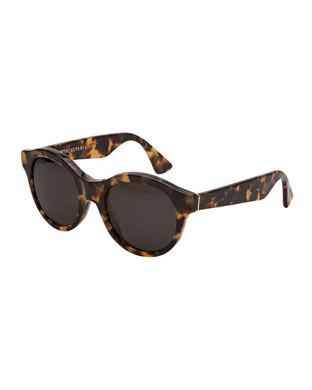 Mona Round Sunglasses, Tortoise