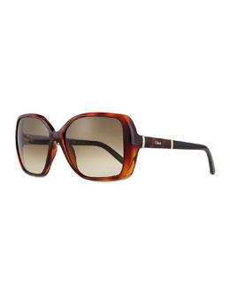 Daisy Square Sunglasses, Havana