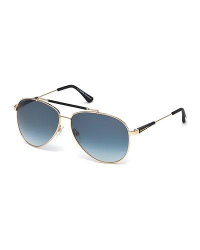 Rick Gradient Aviator Sunglasses