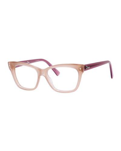 Square Plastic Fashion Glasses
