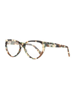 Cannes Cat-Eye Plastic Fashion Glasses
