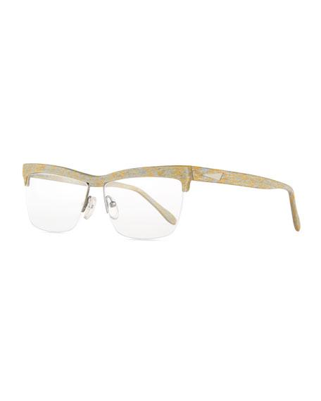 Prism Oslo Square Semi-Rimless Fashion Glasses, Gold