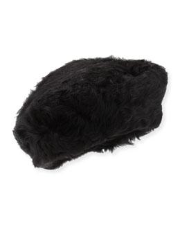 Lamb Shearling Fur Beret