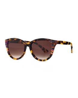 Flattery Modified Cat-Eye Sunglasses