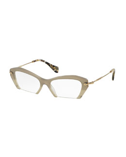Cut-Off Cat-Eye Fashion Glasses