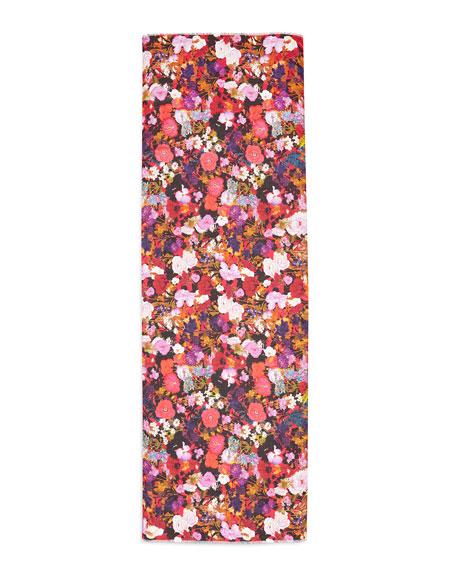 st piece ceres floral print scarf black