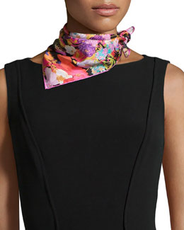 Demeter Floral-Print Square Scarf