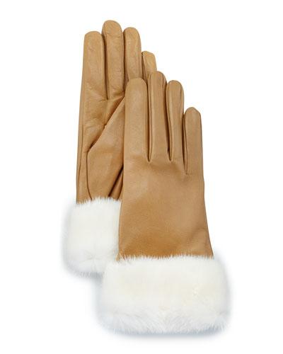 Lambskin Mink-Fur Cuffs