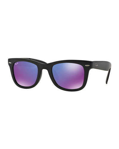 Wayfarer Mirrored-Lens Sunglasses