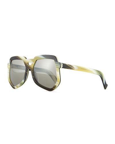 Clip Large Aviator Sunglasses