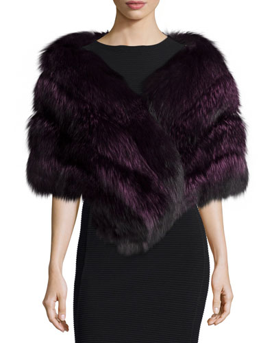 Fox Fur Stole w/Leather