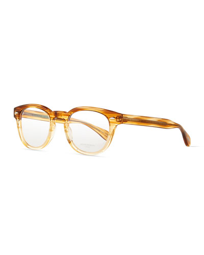 Sheldrake Streaked Fashion Glasses, Oak, Women's