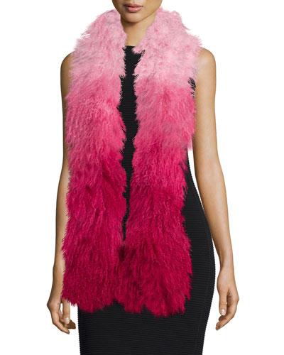 Shaggy Fur Gradient Stole