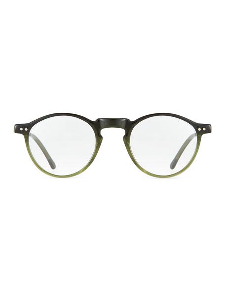 Illesteva Capri Round Optical Frames w/ Clip-On Sunglasses