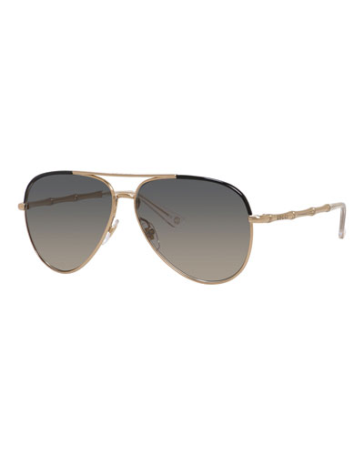 Etched Aviator Sunglasses