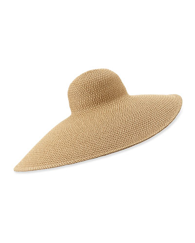 Giant Floppy Sun Hat, Peanut