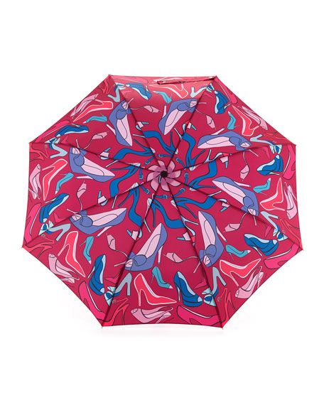 High-Heels-Print Umbrella, Rouge