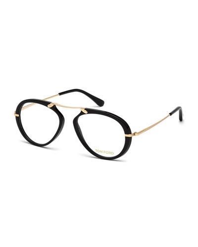 Round Brow-Bar Optical Frames