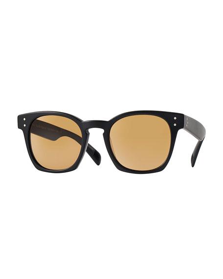 Byredo Photochromic Square Sunglasses, Matte Black