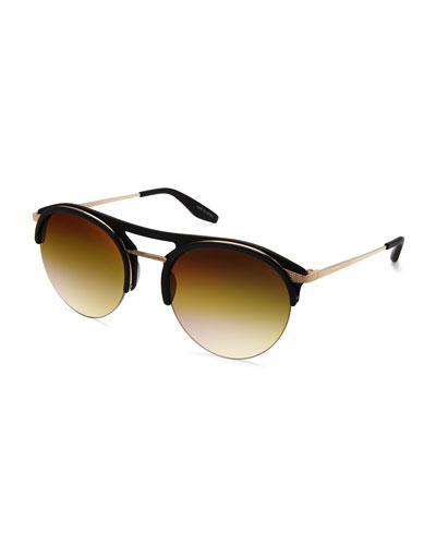 Aurora Plastic & Titanium Round Sunglasses