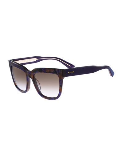 Square Paisley Sunglasses