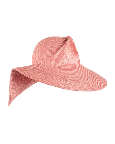 Catherine Folded Straw Sun Hat