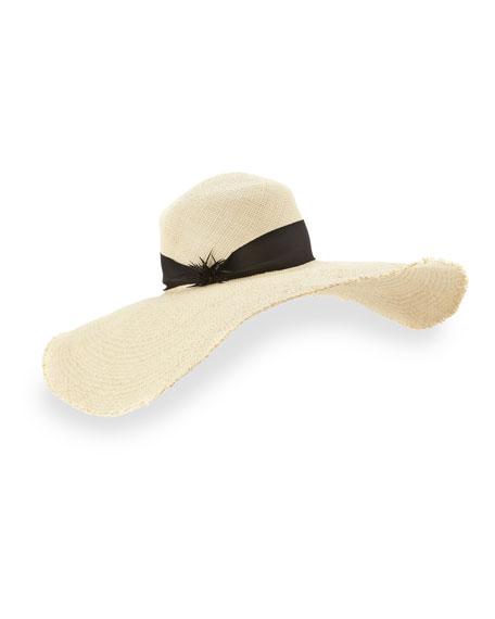 Breakaway Straw Floppy Hat, Natural