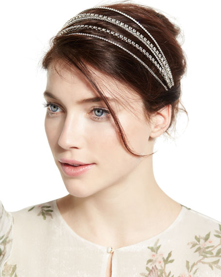 Five-Strand Crystal Bandeau Headband