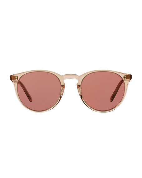 O'Malley NYC Peaked Round Photochromic Sunglasses, Amber