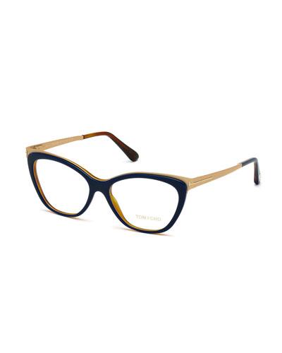 Cat-Eye Optical Frames, Blue