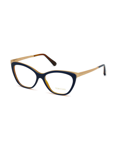 TOM FORD Cat-Eye Optical Frames, Blue