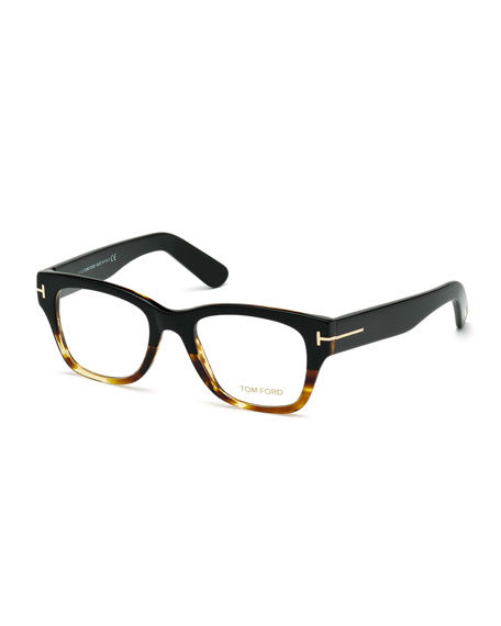 Square Two-Tone Optical Frames, Havana