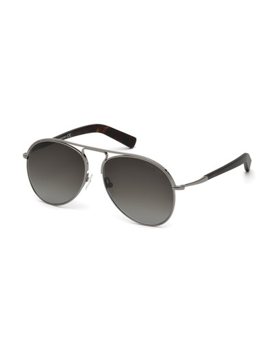 Cody Aviator Sunglasses, Gunmetal