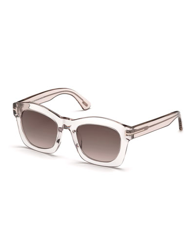 Greta Square Sunglasses, Pink