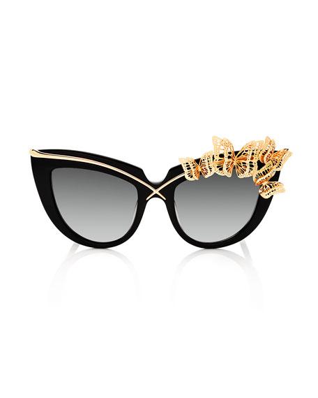 Sunglasses Anna Cat Eye Black Karlsson Lusciousness Wings Karin And UxOZU0Hq