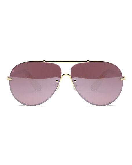 893c02a9e Elizabeth and James Ryder Mirrored Aviator Sunglasses