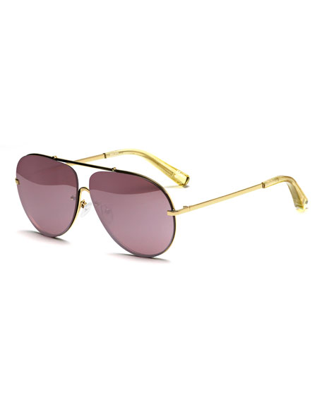 Ryder Mirrored Aviator Sunglasses