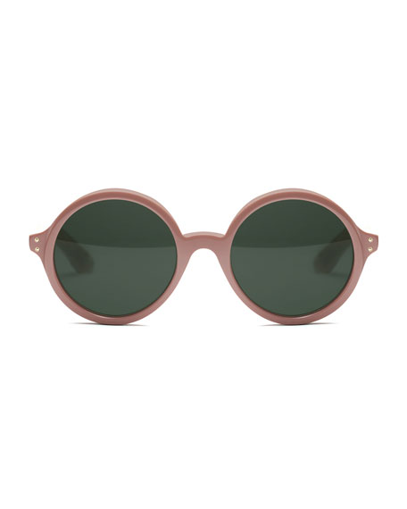 Montgomery Round Monochromatic Sunglasses