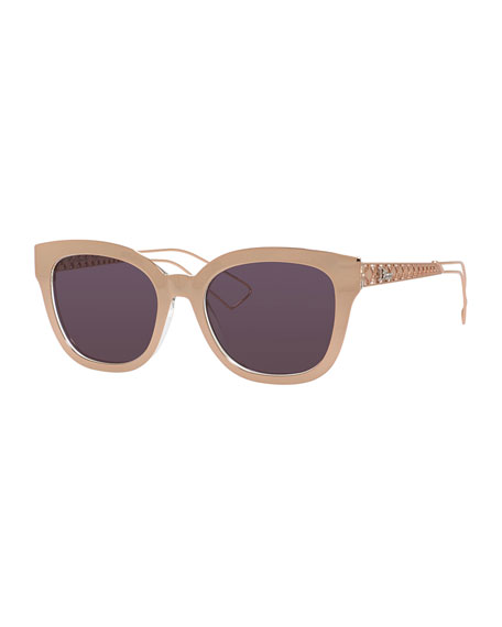 Diorama Caged Mirrored Sunglasses, Pink