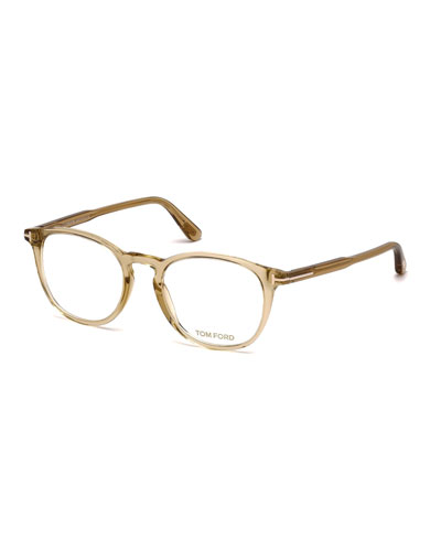 Round Optical Frames, Champagne