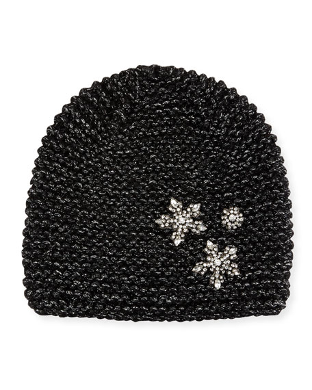 Jennifer Behr Metallic Snowflake Beanie Hat 38c6fb6df2a