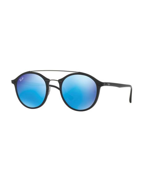 e316cc0e97 Ray-Ban Round Iridescent Double-Bridge Sunglasses