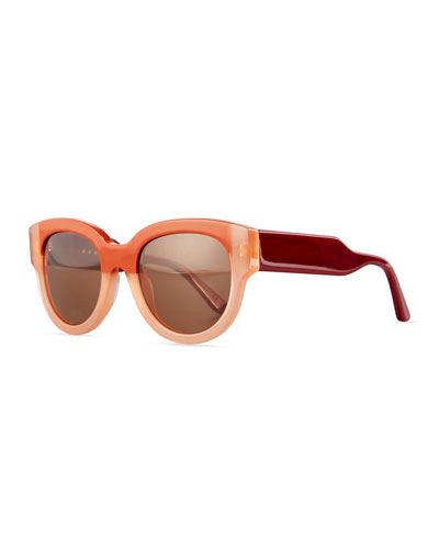 Cromo D-Frame Two-Tone Sunglasses, Pink/Red