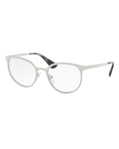 Metal Square Optical Frames, Silver